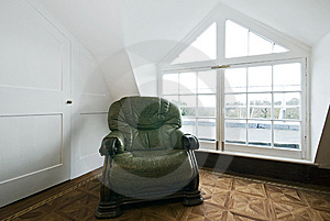 Living Room Detail With Green Vintage Armchair Stock Photo - Image: 14634040