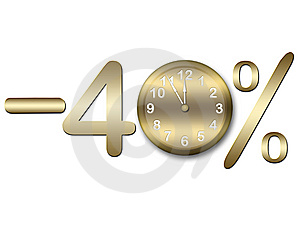 Minus Forty Percents Royalty Free Stock Photography - Image: 14634047