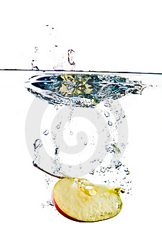 Apple In Water Stock Images - Image: 14634204