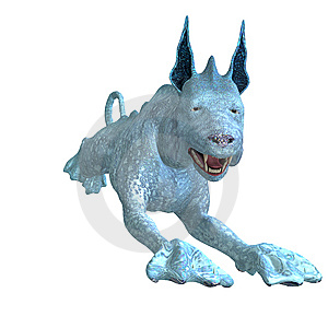 Bizarre Alien Dog.3D Rendering With Clipping Path Royalty Free Stock Image - Image: 14638976