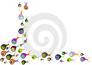 Invasion Of Colored Snails Stock Image - Image: 14639521