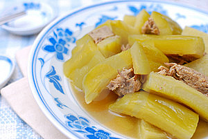 Chinese Bitter Gourd And Meat Cuisine Royalty Free Stock Photo - Image: 14641515