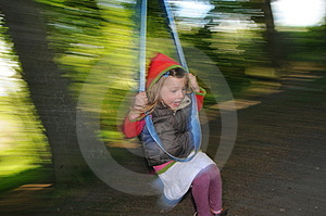 Girl On Swing Stock Images - Image: 14641634