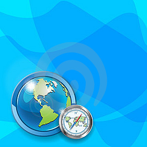 Globe And Compass Royalty Free Stock Image - Image: 14641756