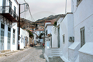 Street In Hydra Stock Image - Image: 14646061