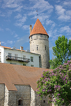Defensive Tower In Tallinn Old Town Royalty Free Stock Photography - Image: 14647177