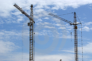Elevating Construction Crane Royalty Free Stock Photography - Image: 14649657