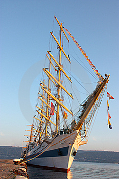 A Frigate Royalty Free Stock Photo - Image: 14650895