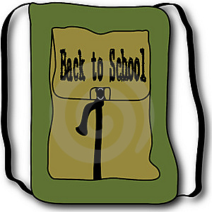 Back To School Backpack Illustration Stock Photography - Image: 14651472