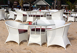 Restaurant On The Beach Stock Images - Image: 14651494