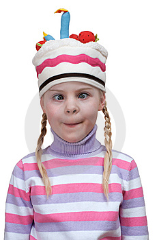 Funny Girl In Cap-cake Stock Images - Image: 14651724