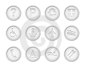 Set Of  Icons Stock Photography - Image: 14653172