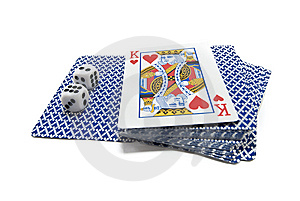 Playing-cards And Bones Royalty Free Stock Photography - Image: 14657357