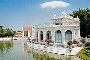 Lakeside White Pavilion Royalty Free Stock Image - Image: 14659266