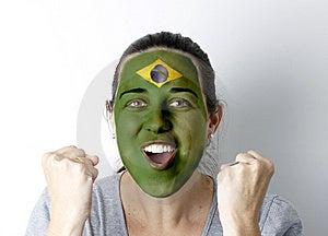 Brasilian Fan Screaming GOAL Royalty Free Stock Images - Image: 14659769