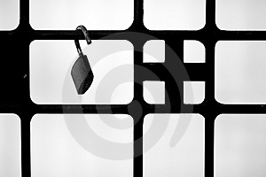 Window Metallic Bars With A Padlock Stock Images - Image: 14661344
