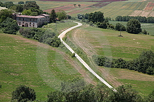 Italy,tuscany,landscapes With Hills Of Siena Royalty Free Stock Image - Image: 14662526