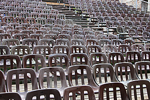Chairs On The Auditorium Stock Photos - Image: 14662743