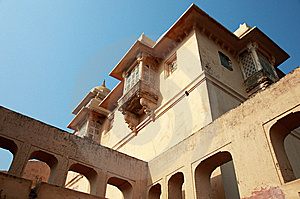 Structures Inside Amber Fort, Near Jaipur, India Royalty Free Stock Photo - Image: 14665145
