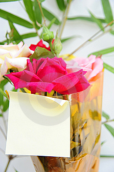 Card And Flower Stock Image - Image: 14665991