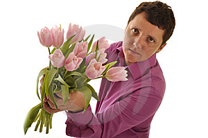 Man Giving Flower Royalty Free Stock Images - Image: 14667289