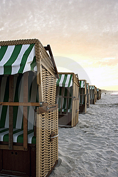 German Beach Chairs Royalty Free Stock Photography - Image: 14667737