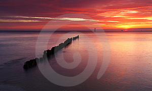 Beautiful Sunrise At Baltic Beach In Poland Stock Photography - Image: 14668112