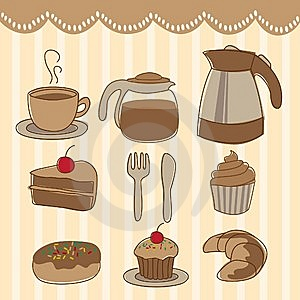 Food And Drink Icon Set Stock Photography - Image: 14668872