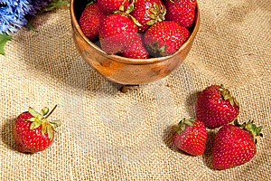Strawberry And Cornflowers Stock Photo - Image: 14670320