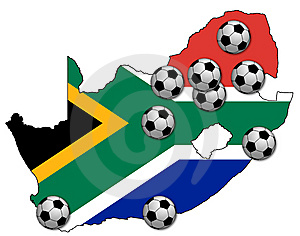 Football Map Of Rsa Stock Images - Image: 14673444