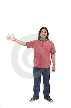 Man Pointing Something Stock Images - Image: 14673814