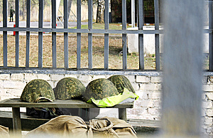 The Combined Military Helmets. Stock Photography - Image: 14673932