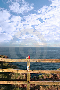 Frosty Winters Cliff Walk Remembrance Royalty Free Stock Images - Image: 14674709