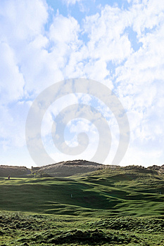Players And Flag On Golf Course Royalty Free Stock Photos - Image: 14675018