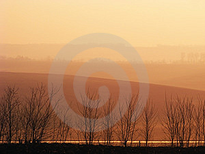 Morning Light On Hills.Moldavia Royalty Free Stock Image - Image: 14676966