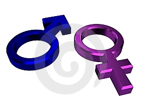 Male And Female Symbols Royalty Free Stock Images - Image: 14678239