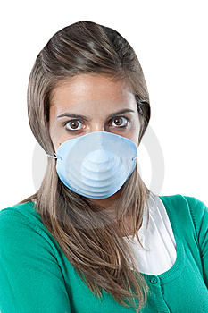 Girl Infected With Influenza A Royalty Free Stock Image - Image: 14678336