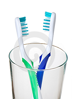 Toothbrushes For Two Stock Images - Image: 14678374