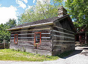 Pioneer Log Cabin Royalty Free Stock Photography - Image: 14679237
