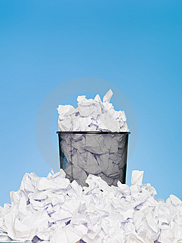 Filled Wastebasket Stock Photos - Image: 14680143