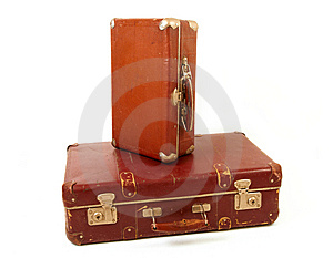 Two Old Suitcases Royalty Free Stock Images - Image: 14680289