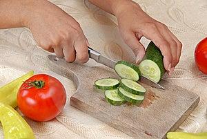Preparing Vegetable Salad Royalty Free Stock Photo - Image: 14680305