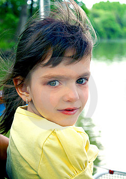 Little Girl With Developing Hair Royalty Free Stock Photography - Image: 14684617