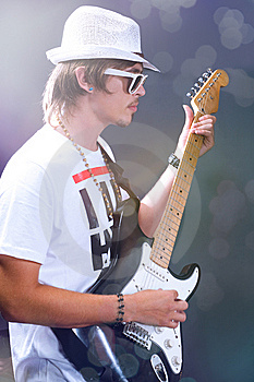 Guitarist Solo Royalty Free Stock Photo - Image: 14685695