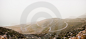 Windy Road In Xerocampos Royalty Free Stock Photography - Image: 14685817