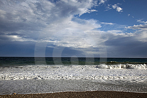 Big Waves From Mediterranean Sea Stock Photos - Image: 14686403