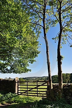 Countryside Gate And Wall Stock Image - Image: 14686701