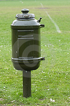 Dog Waste Bin Stock Image - Image: 14687071