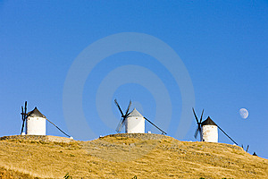 Windmills In Consuegra Royalty Free Stock Photo - Image: 14687465