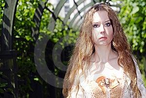 Girl Walk In Lane Royalty Free Stock Photos - Image: 14688008